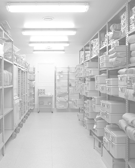 Supply room of hospital with VCT floors