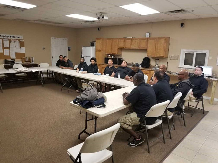 Lehigh Valley crew member meeting in Allentown Pennsylvania.