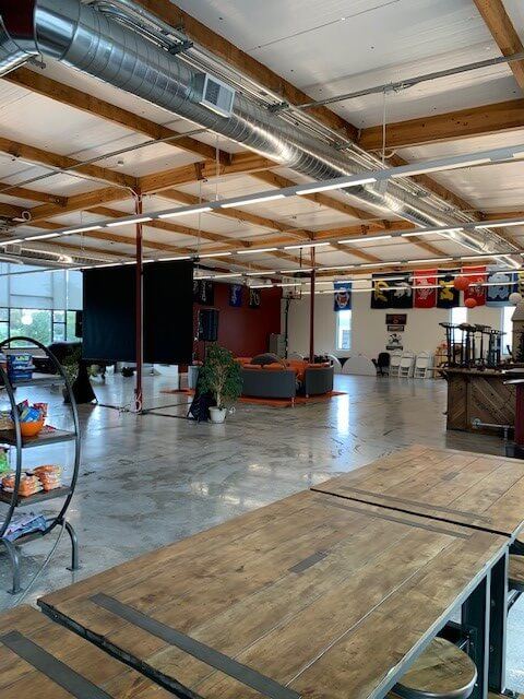 Clean office space in California