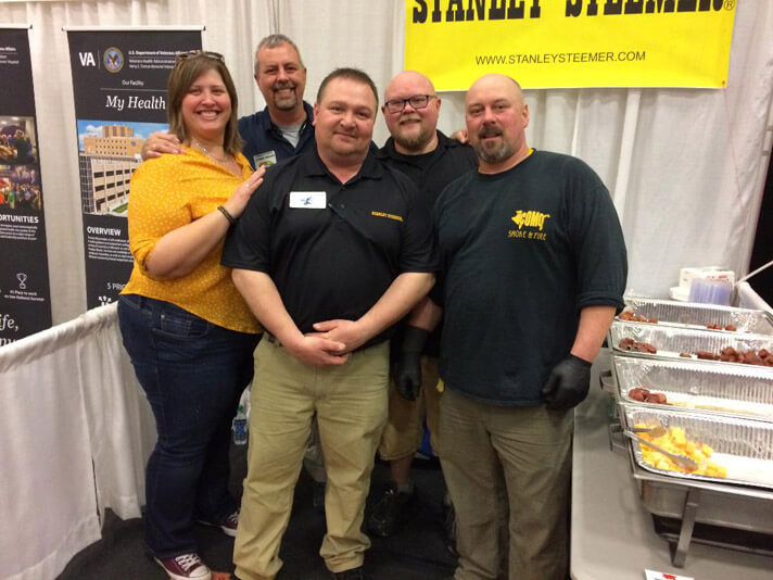 Columbia, Missouri crew members at the Small Business Showcase.