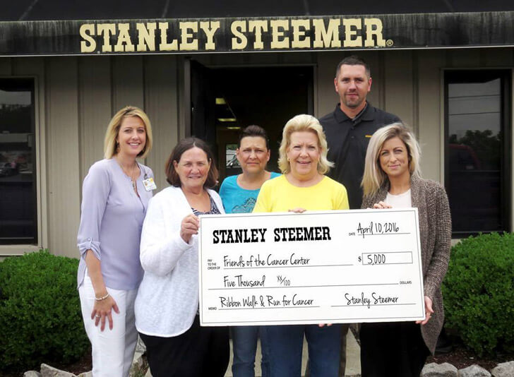 Stanley Steemer Friends of the Cancer Center Check Acceptance in Fayetteville North Carolina