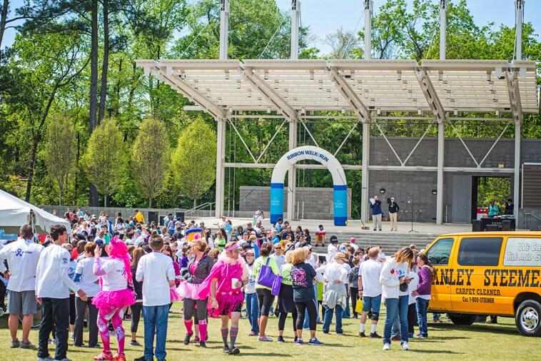 Stanley Steemer Ribbon Walk Run in Fayetteville North Carolina