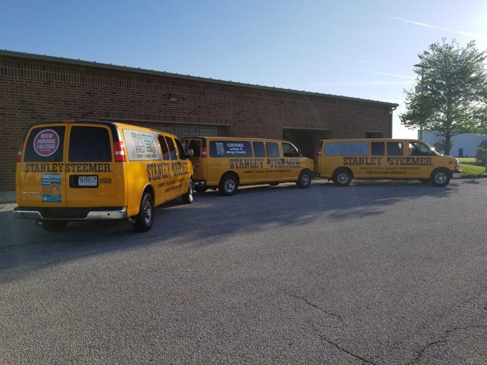 Stanley Steemer Carpet Cleaning Vans in Fort Wayne Indiana