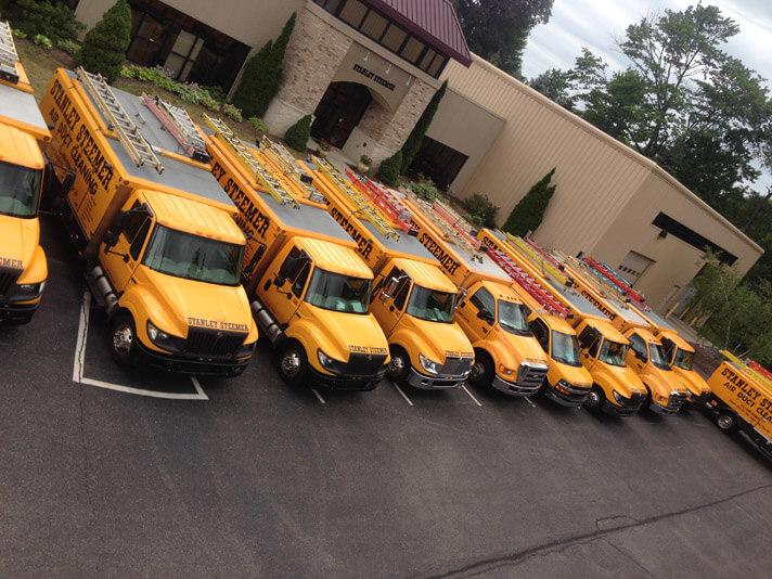 Stanley Steemer trucks in Grand Rapids Michigan