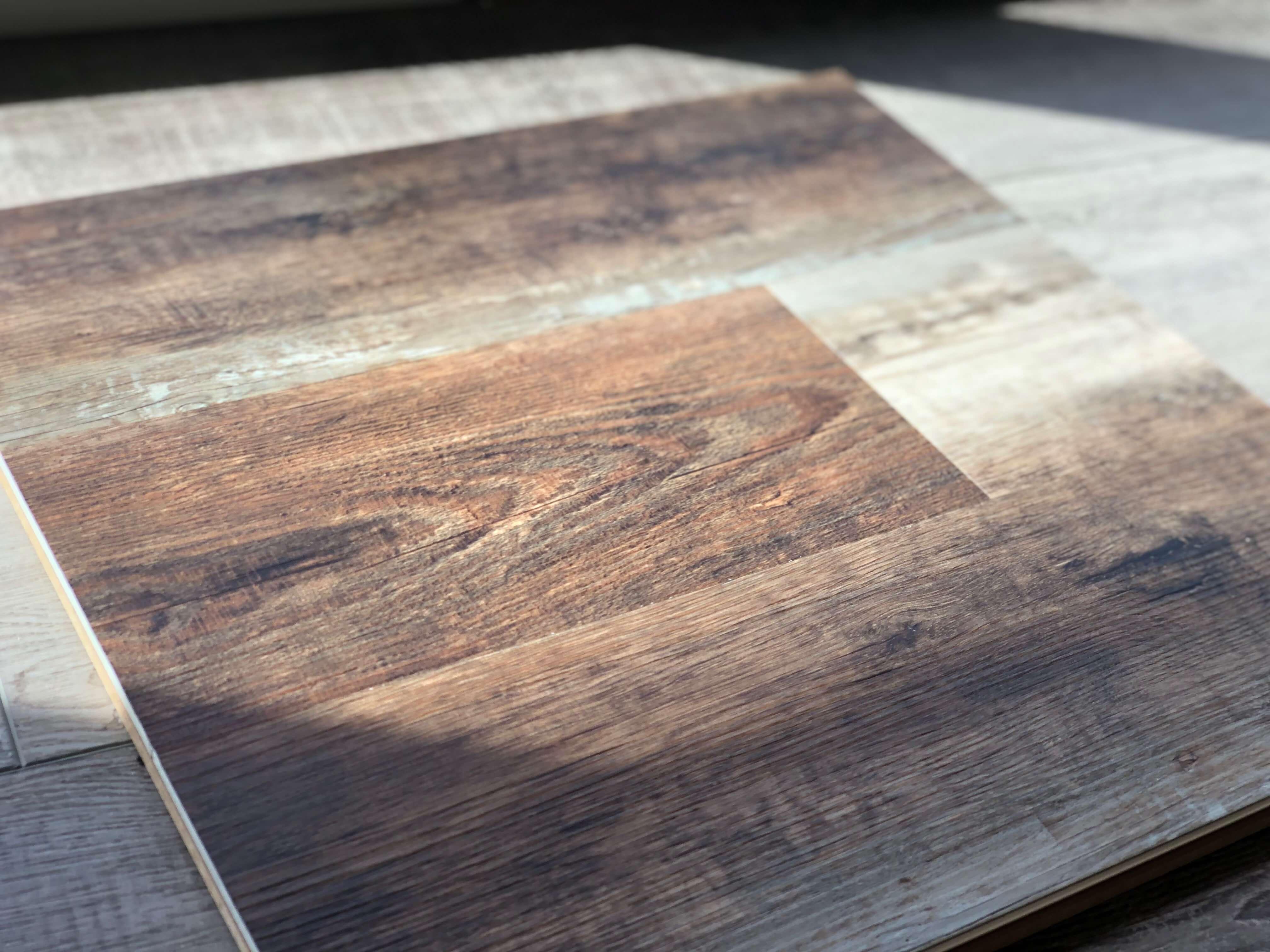 Luxury vinyl tile floor sample at Stanley Steemer Kalamazoo