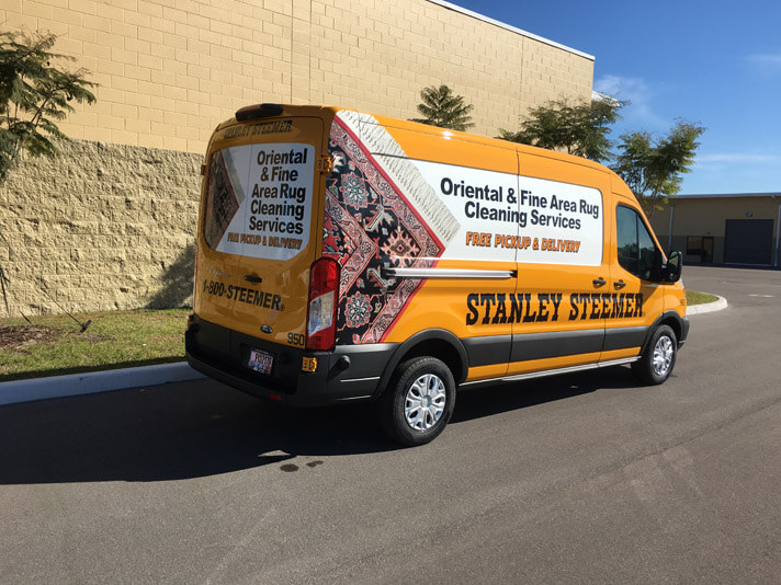 Lakeland Florida Fine Area Rug Cleaning Van