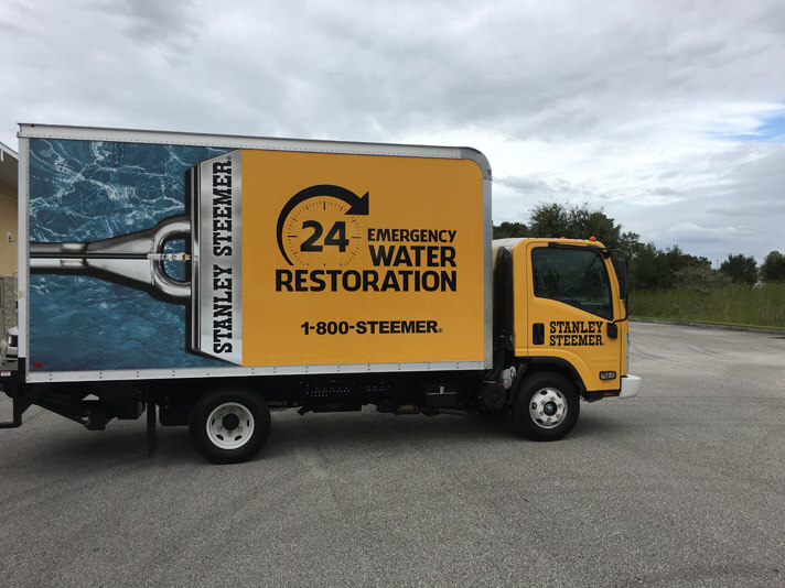 24 hour water restoration truck in Lakeland Florida