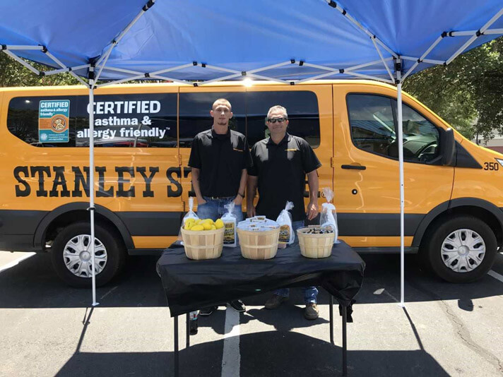 Stanley Steemer employees supporting local charities in Leesburg Georgia