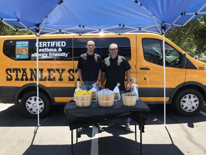 Stanley Steemer employees supporting local charities in Leesburg Georgia