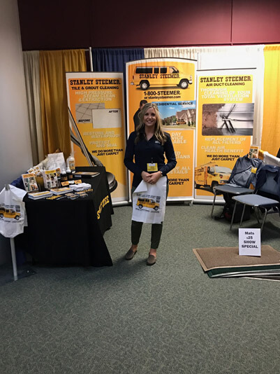 Stanley Steemer booth at trade show in Marlborough Massachusetts