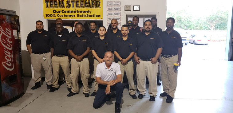 The hardworking carpet cleaning team of Port Saint Lucie, Florida.
