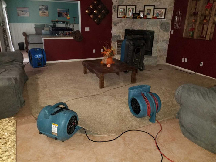 Water Restoration service from Stanley Steemer inside a home in Port Saint Lucie, Florida.