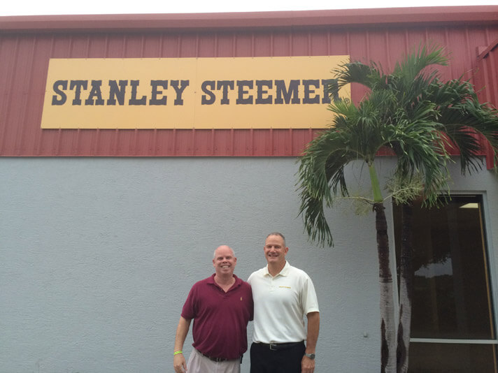 Peters and Bunner outside of Stanley Steemer office in Sebring, Florida.