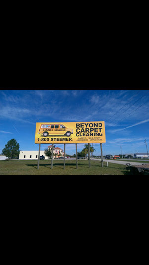 Stanley Steemer billboard display in Sebring, Florida.