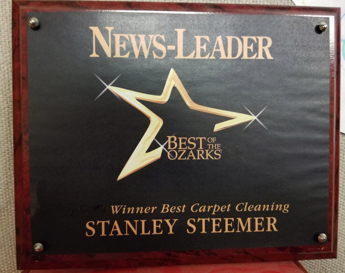 Best of the Ozarks award for best carpet cleaning services in Springfield, Missouri.