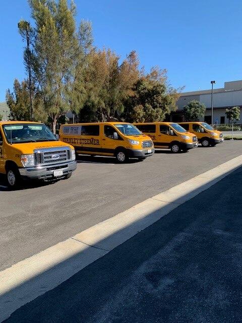 Stanley Steemer vans in California