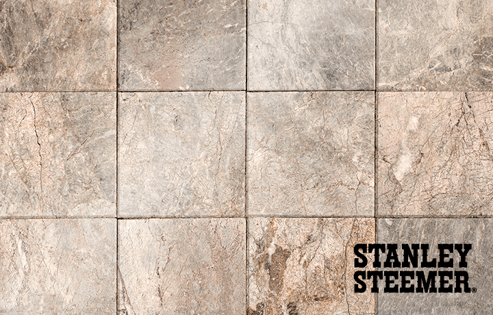 Tile floors featuring Stanley Steemer logo
