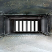 Inside of a clean air duct.