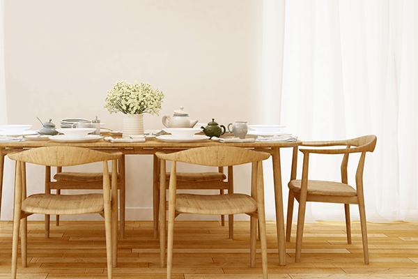 Dining Room focused on table and hardwood floors