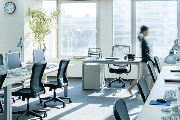 Professionally clean office space