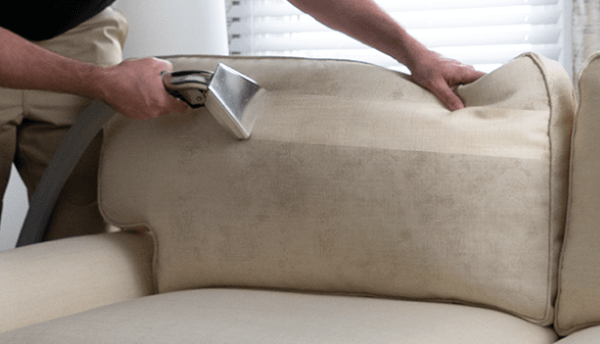 Left end of a leach couch with a pillow