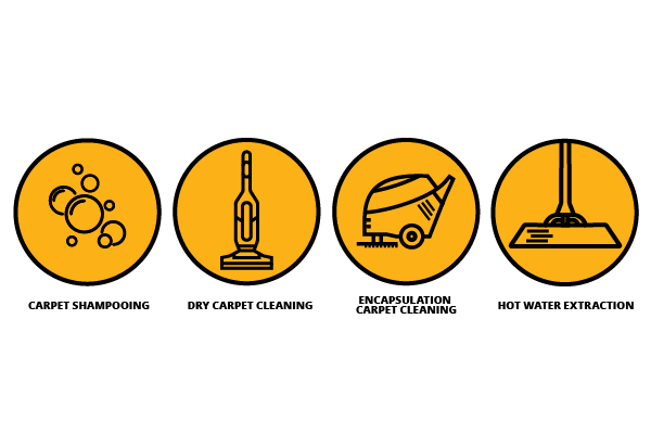 Icons of Carpet Cleaning Methods