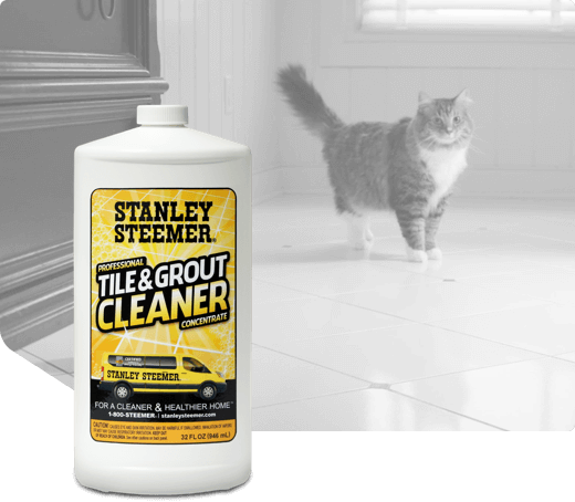 Bottle of Stanley Steemer Tile and Grout Cleaner.